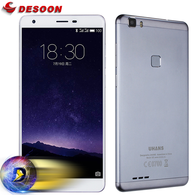Uhans S3 6.0 Inch IPS HD Mobile Phone 16GB ROM 1GB RAM Fingerprint ID 13MP+5MP Camera MTK6580 Quad Core Moive Game Smartphone