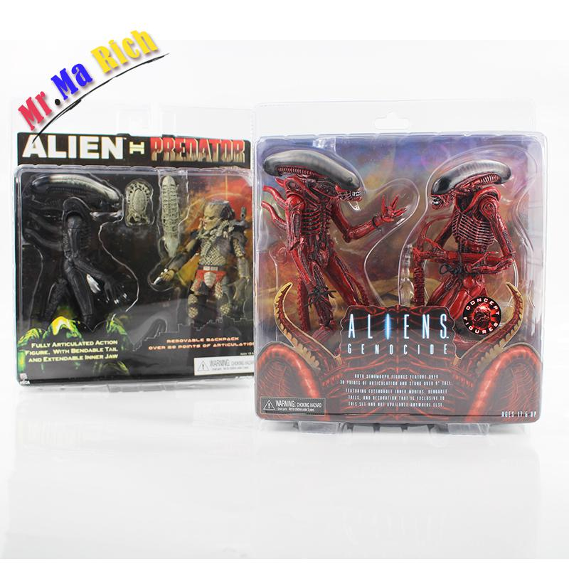 2style Neca Alien Vs Predator Tru Exclusive Alien Genocide Pvc Action Figure Toy цена и фото