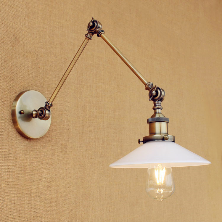 Loft Retro Vintage Wall Lamp Adjustable Swing Long Arm Wall Lights For Home LED Edison Industrial Wall Sconces Apliques Pared modern foldable wall lights long swing arm adjustable aluminum sconces lamps telescopic wall lights for bedroom