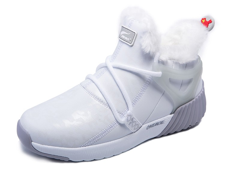 ONEMIX New Winter Running Shoes for women Comfortable Women's boots Warm Wool Sneakers Outdoor Unisex Athletic Sport Shoes women 34