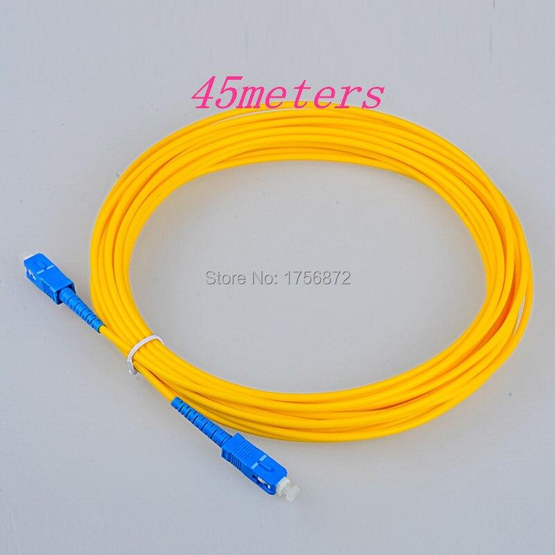 Fiber Optic Cable SC Patch Cord SM SX 3mm 45m 9/125um Fiber Optic Jumper Cable SC/UPC-SC/UPC