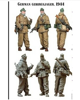 Scale Models 1 35 WW2 German mountain troops WWII Resin Model Free Shipping
