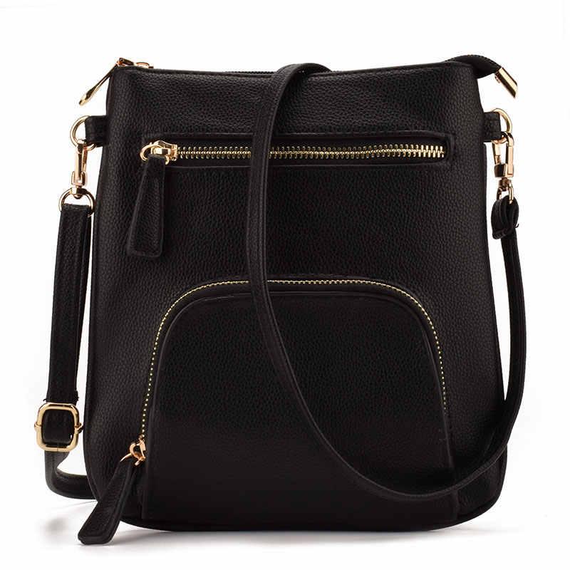 e4e285f52044 JIARUO Brand Design Small Vertical Front Pocket Slim Women Leather  Crossbody bag Purses Mini Shoulder Messenger