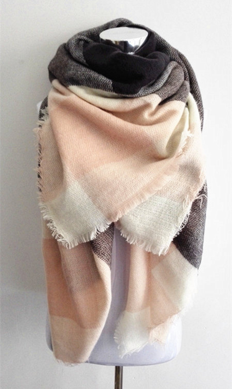 300pcs lot za winter scarf font b Tartan b font Scarf women desigual Plaid Scarf cuadros