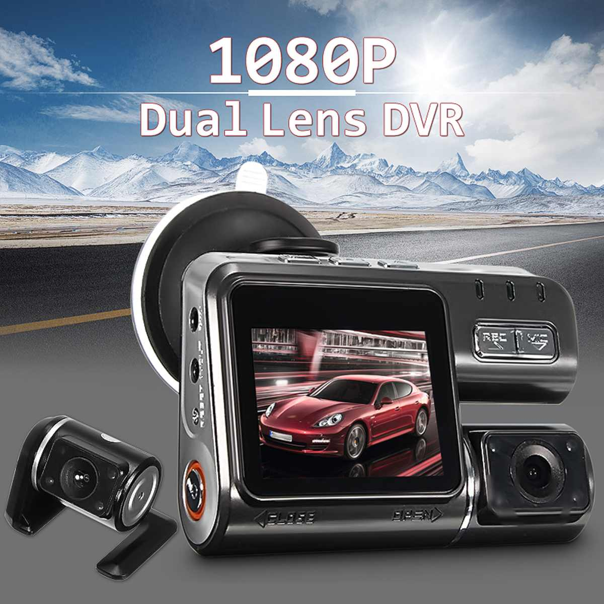 Car-Camera Video-Record G-Sensor Vehicle Dual-Lens Full-Hd 1080P And