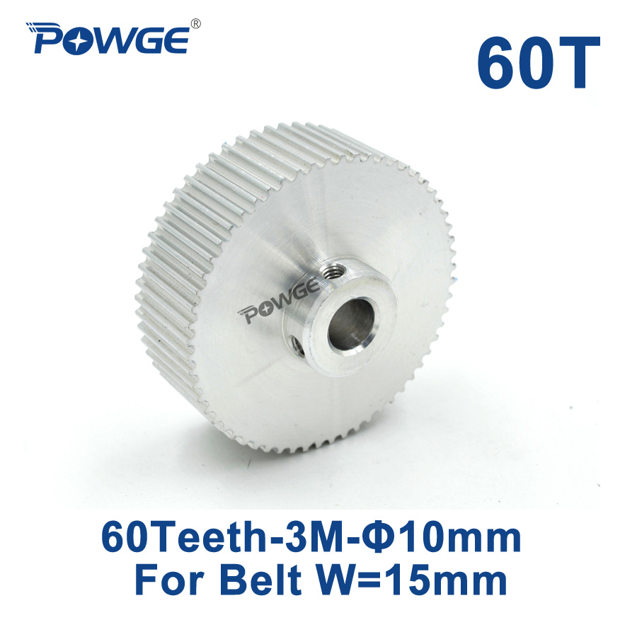 POWGE 60 Teeth HTD 3M Timing Pulley Bore 9.525mm 0.375