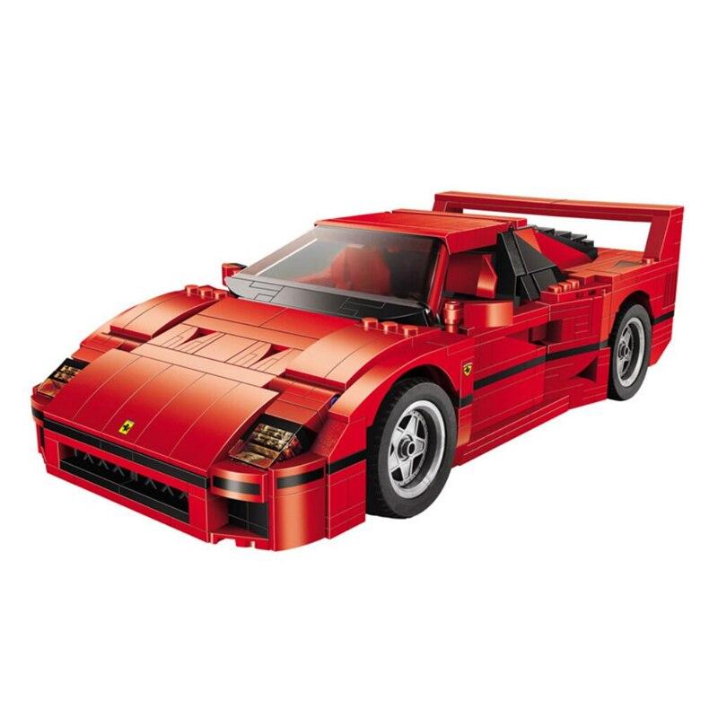 Technic series 21004 Ferrarie F40 modèle de voiture de sport blocs de construction Kits briques jouets compatibles avec 10248