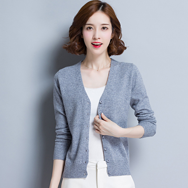 Aliexpress.com : Buy Casual Autumn Long Sleeve V Neck Cardigan ...
