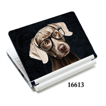 "Puppy Laptop skin 15.6"" personalized notebook decals 13"" 15"" black covers for vaio/ hp/ dell xps/ asus(China)"