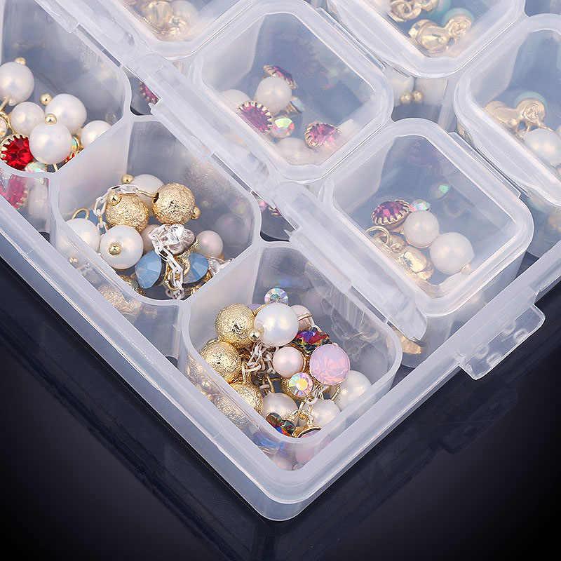 Heißer 28 Gitter Zerlegbare Diamant Malerei Box Stickerei Zubehör Strass Boxen Kreuz Stich Cases Home Lagerung