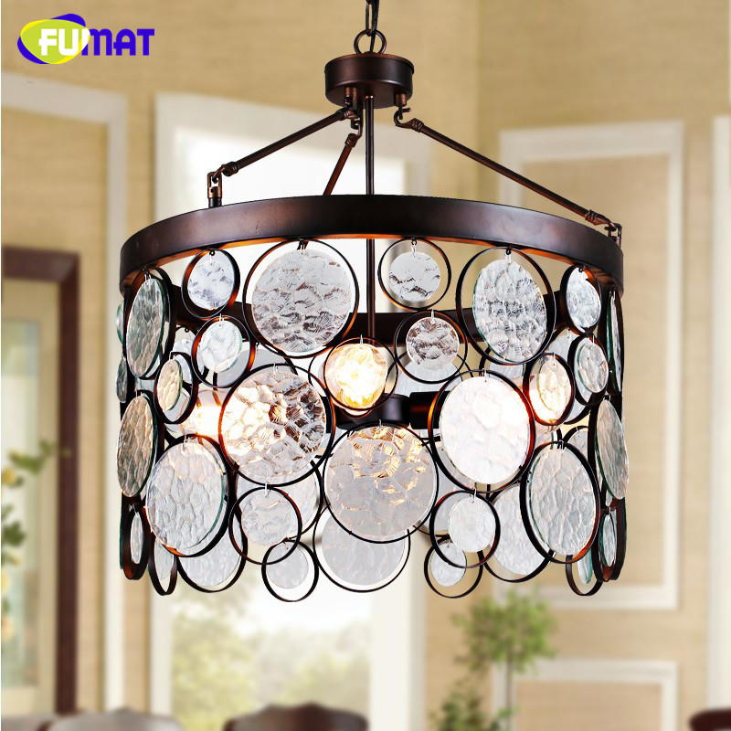 FUMAT Loft Metal Pendant Lights Art Deco Suspension Lamp Glass Lamp for Living Room American Simple Cafe Bar Hanging Lights loft simple retro edison industrial clear glass metal pendant lamp lights for cafe bar dining room shop living room store decor