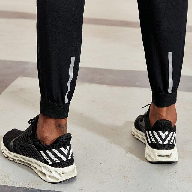 Vansydical 2019 Men's Running Trousers Loose Thin Basketball Training Pants Reflective Fitness Jogger Sweatpants 5