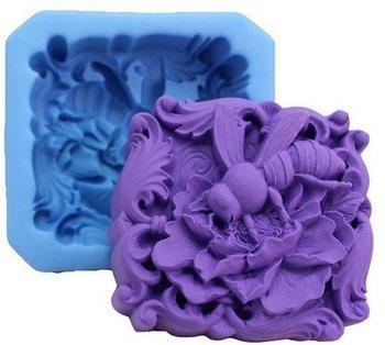 2 6 cala kwadratowe mydło formy z pszczoła kwiat do rękodzieła artystycznego formy silikonowe do mydła formy formy rzemieślnicze mydło DIY formy robienie mydła formy tanie i dobre opinie Allforhome CN (pochodzenie) R0823 Square soap mold with Bee in the flower Silicone Owady -40F to +446F(-40c to +230c) Oven dishwasher refrigerator freezer microwave