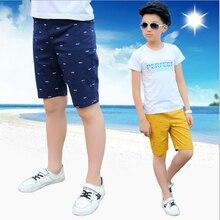 Erkek rahat pantolon erkek pamuk diz boyu şort çocuklar plaj pantolonları çocuk spor pantolon 3 15T çocuklar yaz pantolon genç şort