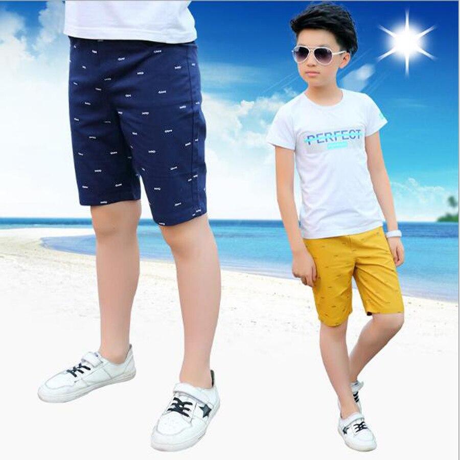 Meninos calça casual meninos calças de algodão na altura do joelho shorts crianças praia calças esportivas criança 3-15T dos miúdos verão calças calções adolescentes
