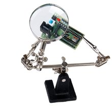 2.5X Magnifier with crocodile clip Auxiliary Support for Soldering Jewelry Repairing Tool, Silver