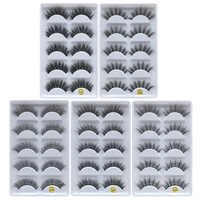 Eldridge Fake Lashes 5 pairs Mink Eyelashes 3D False lashes Thick Crisscross Makeup Eyelash Extension Natural Volume eyelashes