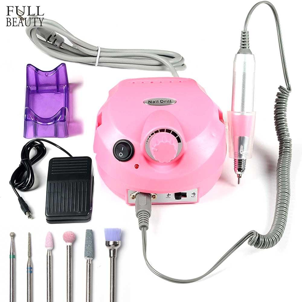 30000 RPM Elektrische Nagel Bohren Maniküre Maschine Pediküre Nagel Accessoire Kit Mit Nagel Datei Mix Bohrer Werkzeuge CH925-1