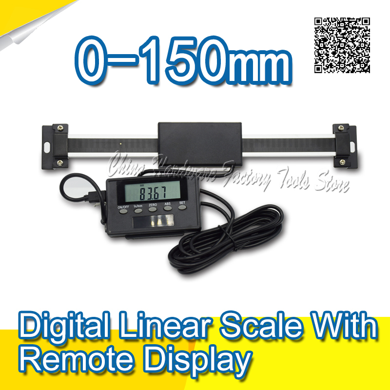 Free Shipping 0-150mm Readout Digital Linear Scale with Remote Display External Display High Accuracy Measuring Tool best price linear scale 5micron linear encoder 120 170 220 270 320 370 420 470 520mm optical linear ruler free shipping