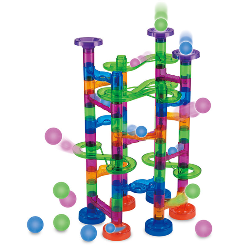 29-176PCS DIY Track Building Pipe Blocks For Children Ball Circuit Marble Race Run Maze Balls Educational Toys For Children Gift