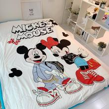 mickey mouse Summer bed linens Children Blanket queen size quilted bedspreads beddings twin for kid boy cover decors