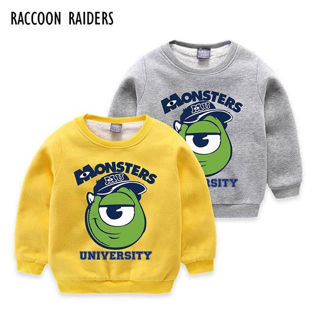 Children's Clothing Kids Cartoon Printed Hoodies Boys Autumn Winter Thickening Fleece Jackets and Coats Outerwear Sweatshirt
