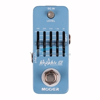 Mooer Graphic G 5 Band Equalizer Guitar Effect True Bypass MEQ1 with Master Level Control Guitar Accessories Pedal Effect Parts