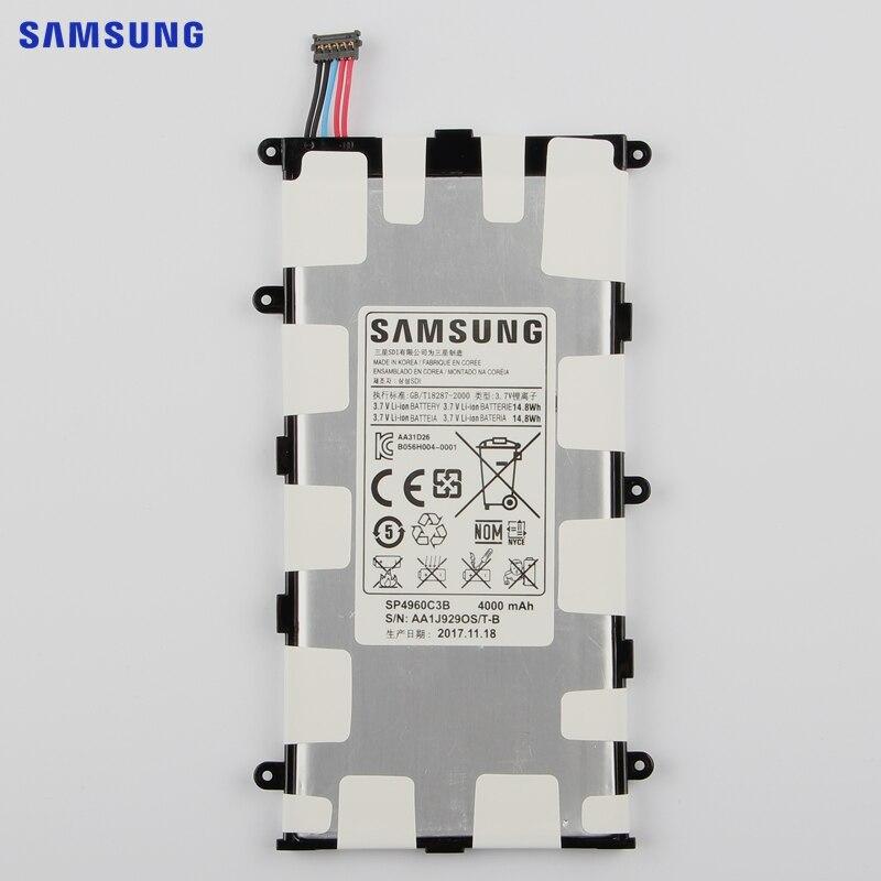 SAMSUNG Original Replacement Battery SP4960C3B For Samsung GALAXY Tab 7.0 Plus P3110 P3100 P6200 P6210 Tablet Battery 4000mAh