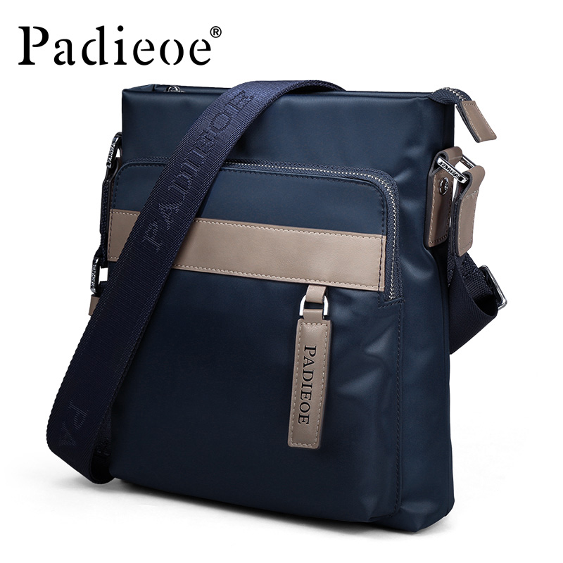 Padieoe Messenger Bag Nylon Casual Shoulder Bag for Male High Quality Business Travel Crossbody Bag Famous Brand Men Handbag padieoe genuine leather business men s messenger bag casual shoulder crossbody bag for male famous brand fashion travel men bags