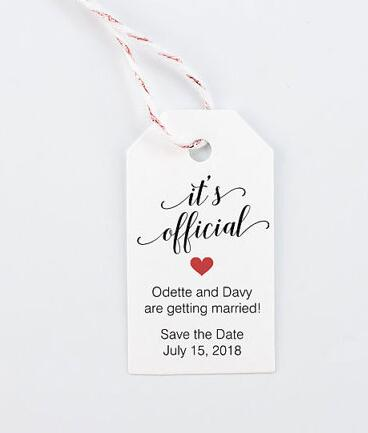 personalized save the date wedding welcome gift engagement party favor tags bridal shower bachelorette booking cards in cards invitations from home