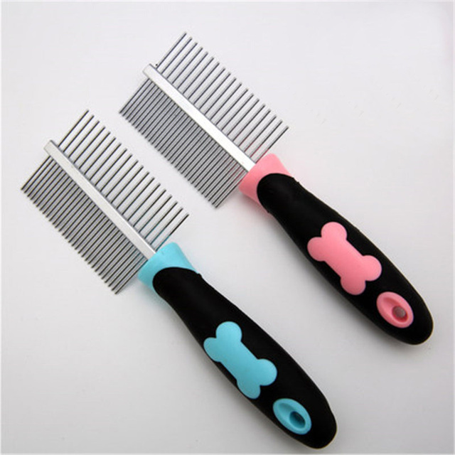 Pet Grooming Brushes Dogs Deshedding Tool Hoopet Para Gato Comb Rake  Hondentondeuse Easy Bath Dog Grooming Metal Combs DDM677 58e4c8db7