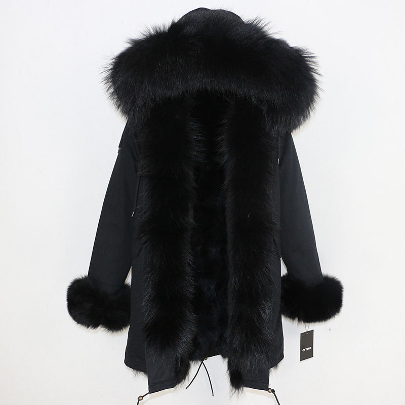 OFTBUY 2019 Winter Jacket Women Long Parka Real Fox Fur Coat Natural Raccoon Fur Collar Hood Thick Warm Streetwear Parkas New 59