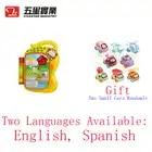 1 pc 35887 macaco Bonito livro de aprendizagem bebê brinquedo inglês aprendizagem de máquina brinquedos educativos para crianças aprender inglês Xmas gift