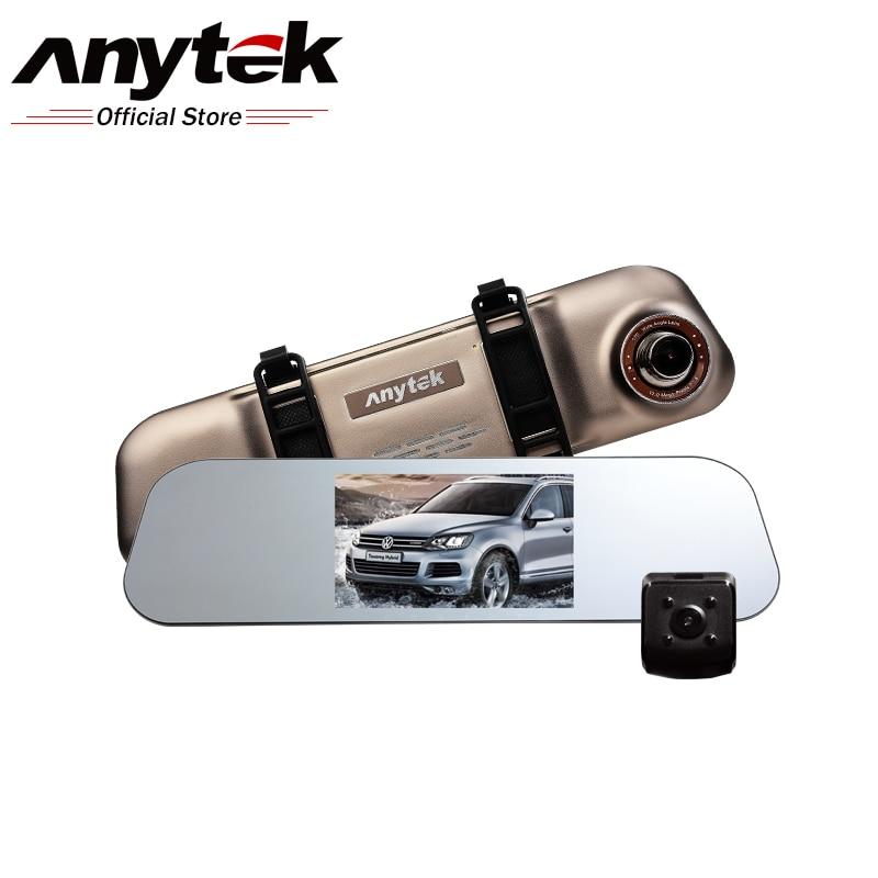 Prix pour Anytek a80 ultra mince de voiture dvr novatek 96655 double-lentille conduite enregistreur vision nocturne de la lumière arrière vue dashcam voiture caméra