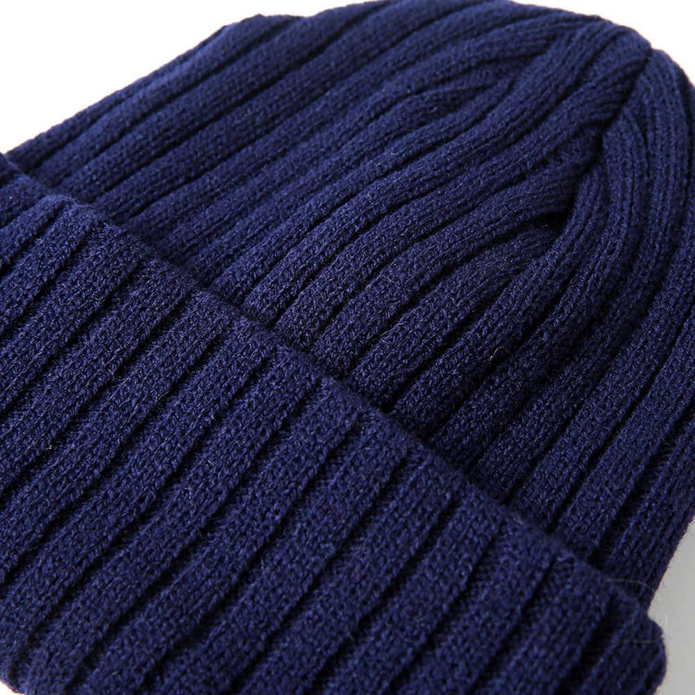 ce1070f78e4 ... 1pc Stripe Knitting Soft Warm Peaked Cap Autumn Winter Men Women Sport Skiing  Hat ...