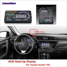 Liandlee Car Head Up Display HUD For Toyota Corolla 11th 2012-2018 Safe Driving Screen OBD II Speedometer Projector Windshield