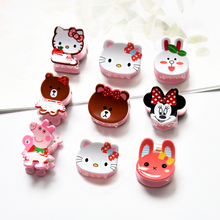2019 Newest Girl Cute Cartoon Animals Small Acrylic Hair Claws Princess Lovely Hairpins Headwear Barrette Kids Accessories