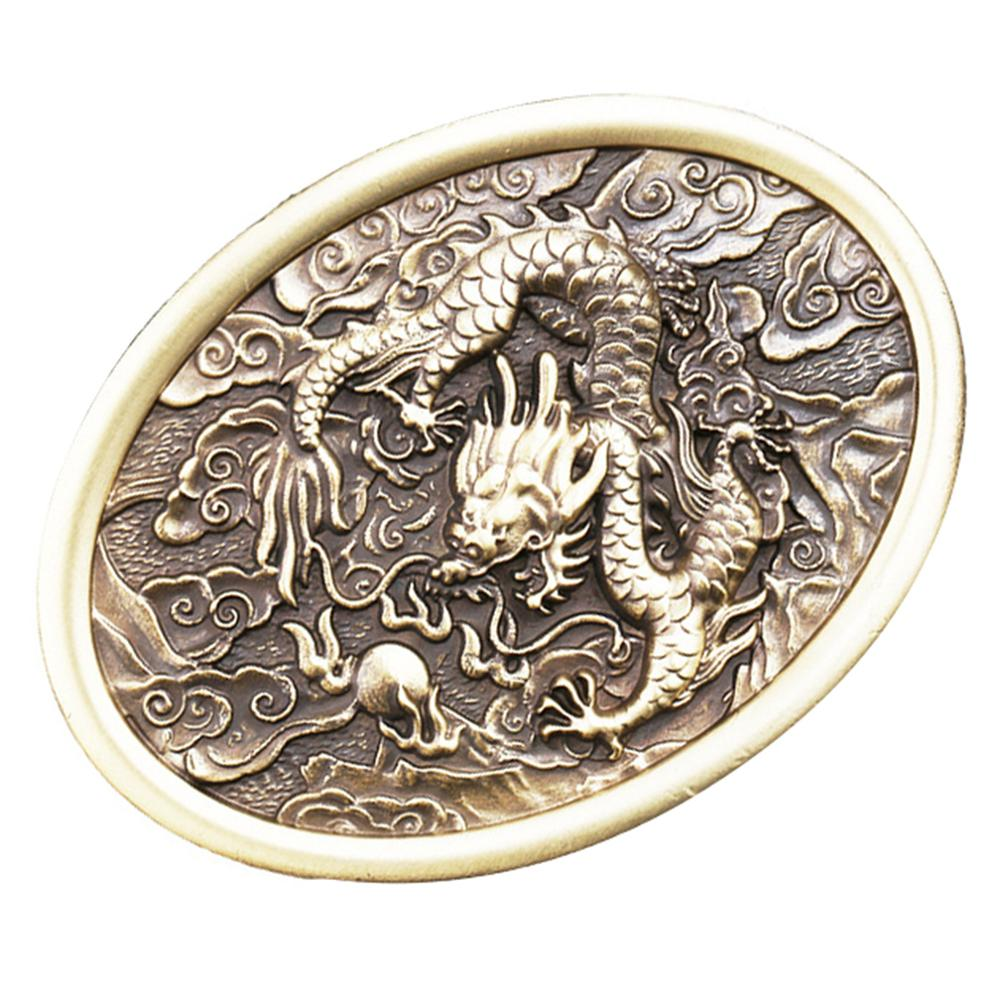 CUKUP 2018 New Designers Brand Belts Buckle DIY 3D Dragon Brass Belt Buckles Chinese Style Zodiac Youth Wind 1pc Retail BRK012