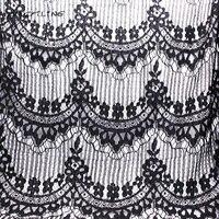 CMCYILING Yaz Giyim Elbise Gömlek Dikiş Tekstil Için Kumaş Siyah Dantel Kumaş Deldi Dantel Işlemeli Kumaş Malzeme 1 Metre