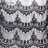 CMCYILING Summer Apparel Fabric Black Lace Fabric For Dress Shirt Sewing Textile Pierced Lace Embroidered Cloth