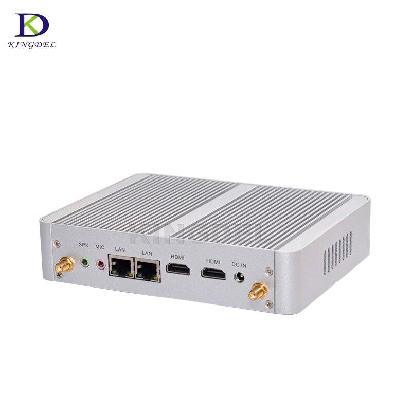 Htpc N3150 Dual LAN Mini Pc Windows 7 Linux Mini Computer 4*USB 3.0 2*HDMI Alloy Case 4K HD Graphics Card Linux Windows Tv Box
