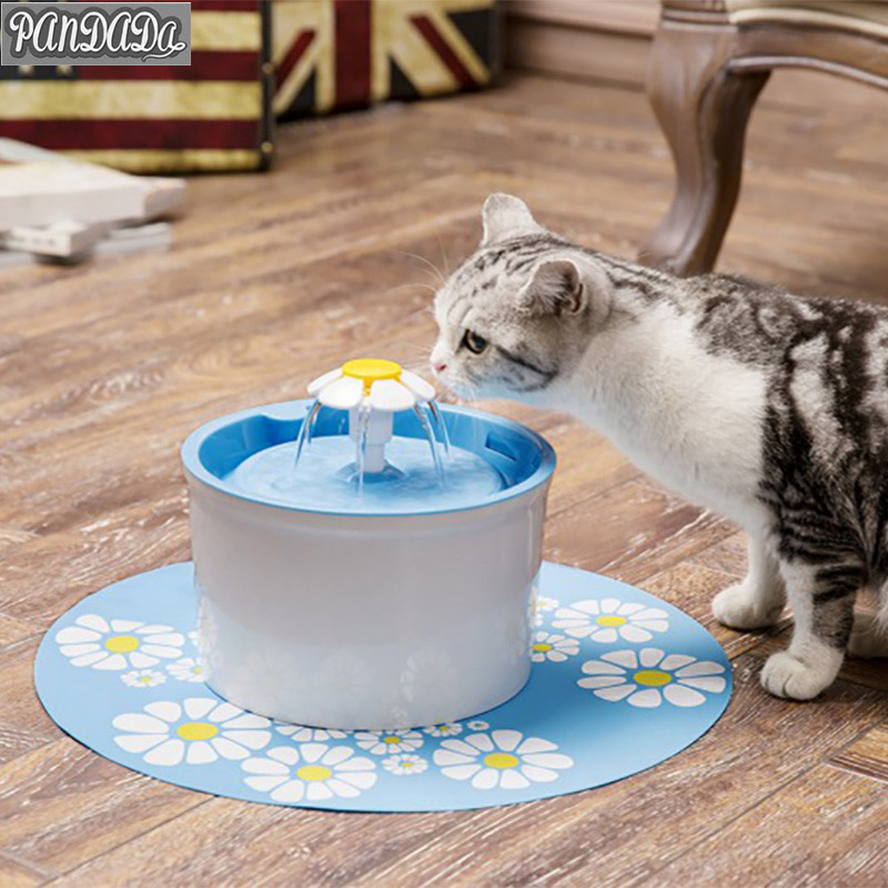 panDaDa Cat Drinking Fountain Cat Food Trough Automatic Pet Feeder Drinking Fountain Water Small 1.6L