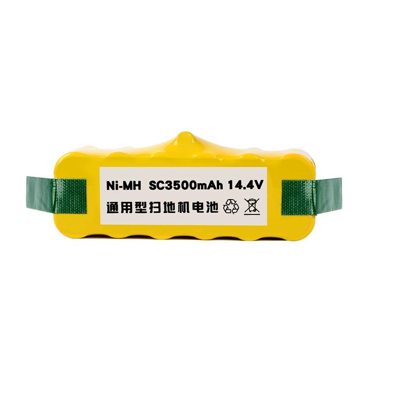 HUIXI 14.4V 3500mAh Ni-MH Battery Packs for for iRobot Roomba 500 600 700 800 900 Series Vacuum Cleaner parts bristle brush flexible beater brush fit for irobot roomba 500 600 700 series 550 650 660 760 770 780 790 vacuum cleaner parts