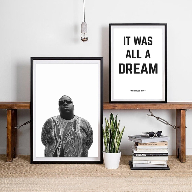 The Notorious BIG Canvas Art Print And Poster It Was All A Dream Biggie Smalls