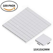 100PCS Lot 15X15x2MM 2mm Thinkness White SMD DIP IC Chip Conduction Heatsink Thermal Paste Compounds Pad Pads 100pcs lot sn74hc157n 74hc157n dip 16 new origina