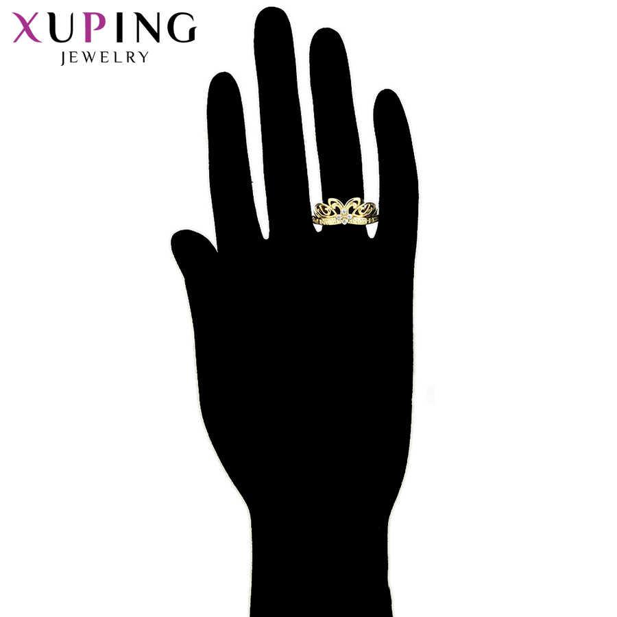 Xuping Neue Ankunft Luxus Ringe Vier Synthetische Zirkonia Engagement Geschenk für Frauen Vintage-Schmuck S100-15882