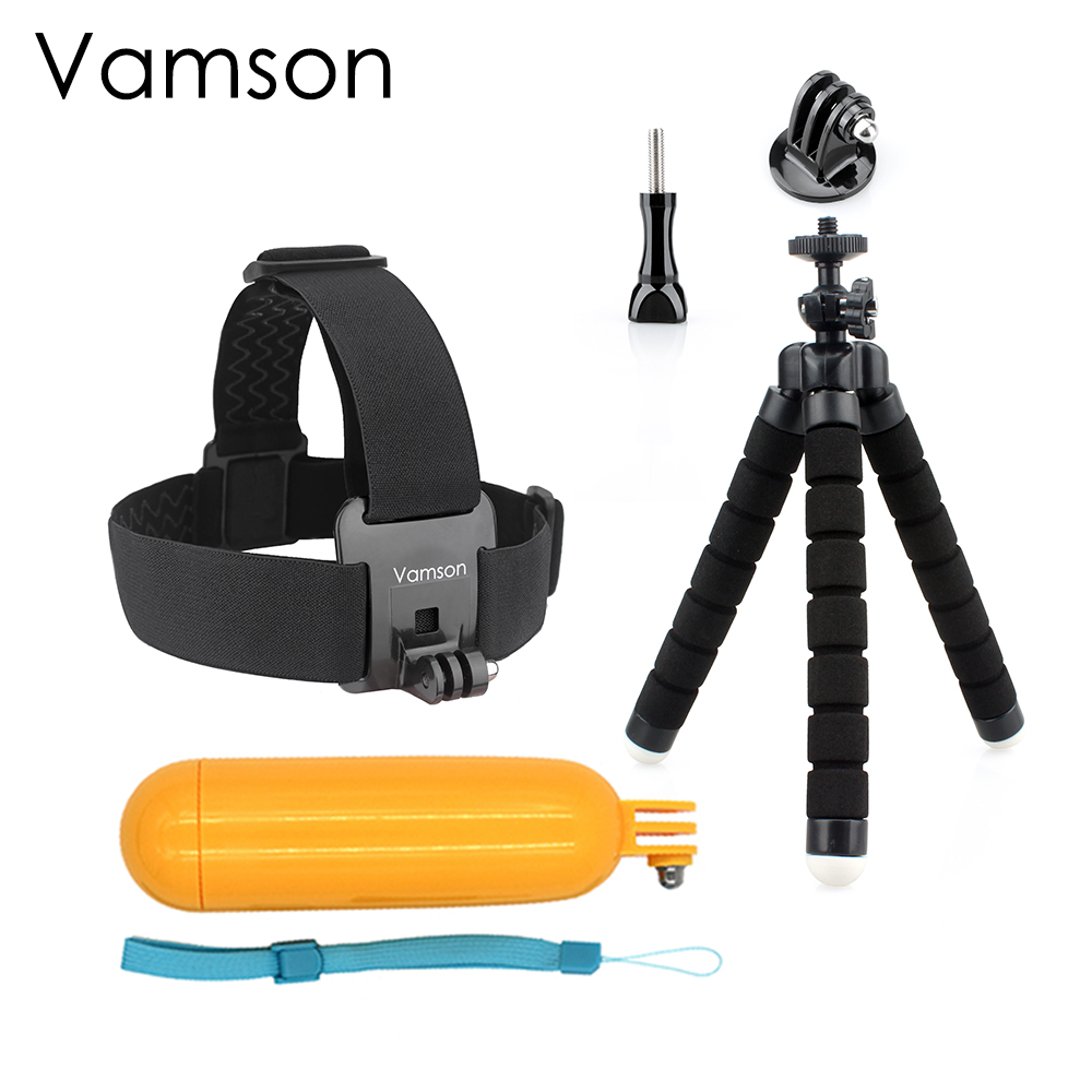 все цены на for Xiaomi for Yi Accessories Octopus Tripod Head Strap Floaty Bobber Monopod For Gopro Hero 5 4 3+ for SJCAM Action Camera VS48