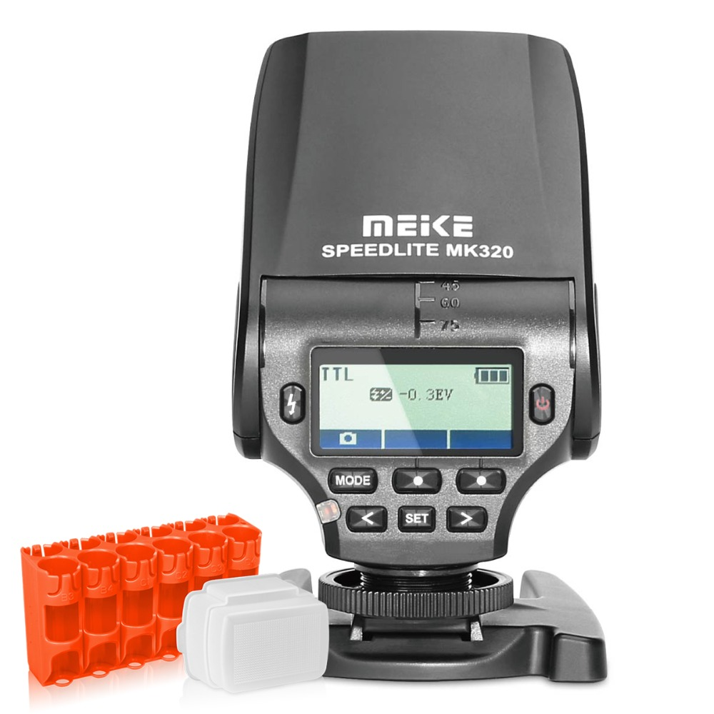 MEIKE Flash Light MK320 TTL Speedlite para FujiFilm Hot Shoe Camera X100s X-a1 X-e2 X100