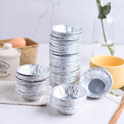 100pcs Disposable Aluminum Foil Tart Pie Pans Egg Tart Mold Muffin Cookie Pudding Mold Round Lined Mold Kitchen Baking CAKE Tool