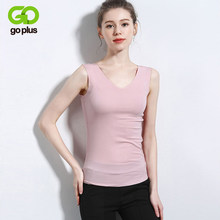 GOPLUS Soft Cotton Basic Tank Top Women Camisole Sexy V neck Sleeveless Vest Ladies shirts Casual Elastic Slim Camis Female Tops(China)